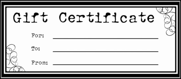 Magazine Subscription Gift Certificate Template Elegant Blank Gift Certificate Template Free Printable Template