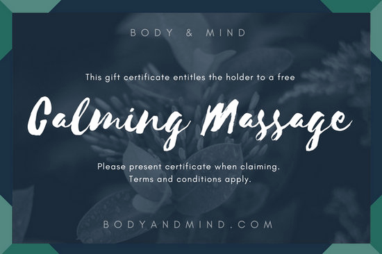 Magazine Subscription Gift Certificate Template Fresh Customize 100 Massage Gift Certificate Templates Online