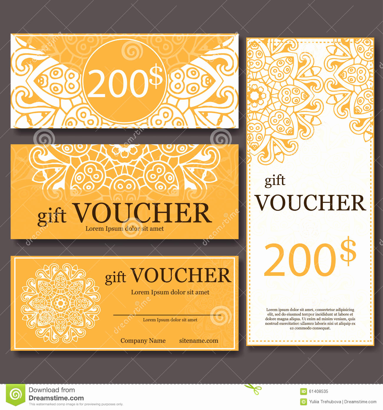Magazine Subscription Gift Certificate Template Fresh Gift Voucher Template with Mandala Design Certificate for