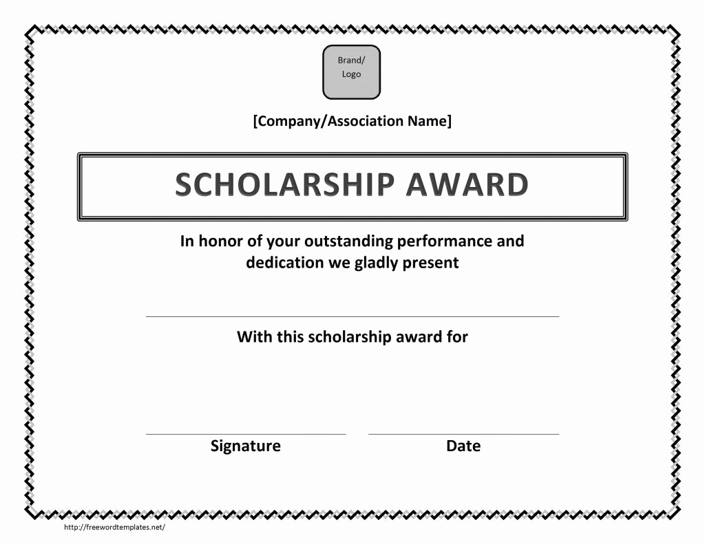 Magazine Subscription Gift Certificate Template Inspirational Scholarship Award Certificate Template