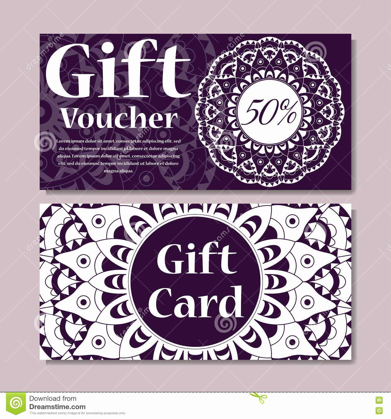 Magazine Subscription Gift Certificate Template Luxury Gift Voucher Template with Mandala Design Certificate for