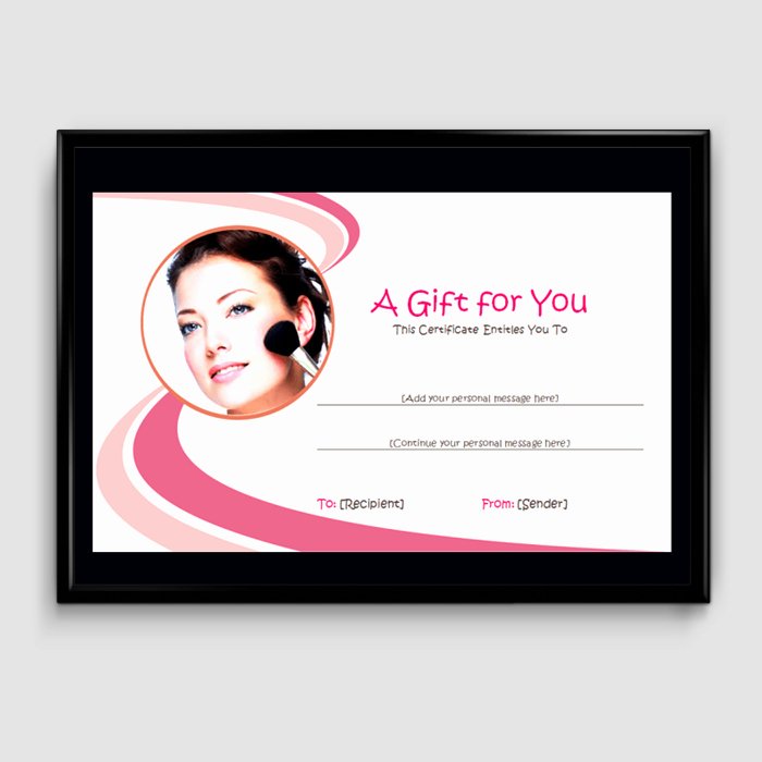 Makeup Gift Certificate Template Awesome Gift Certificate Template 6 Fillable Certificate