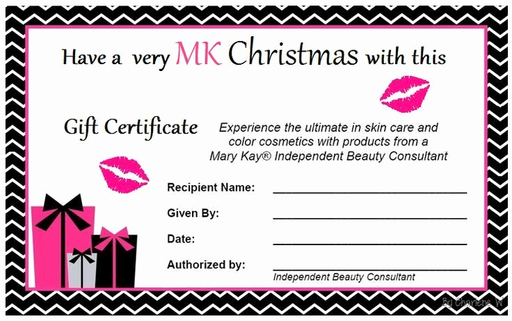 Makeup Gift Certificate Template Awesome Mary Kay Christmas and Christmas Ts On Pinterest