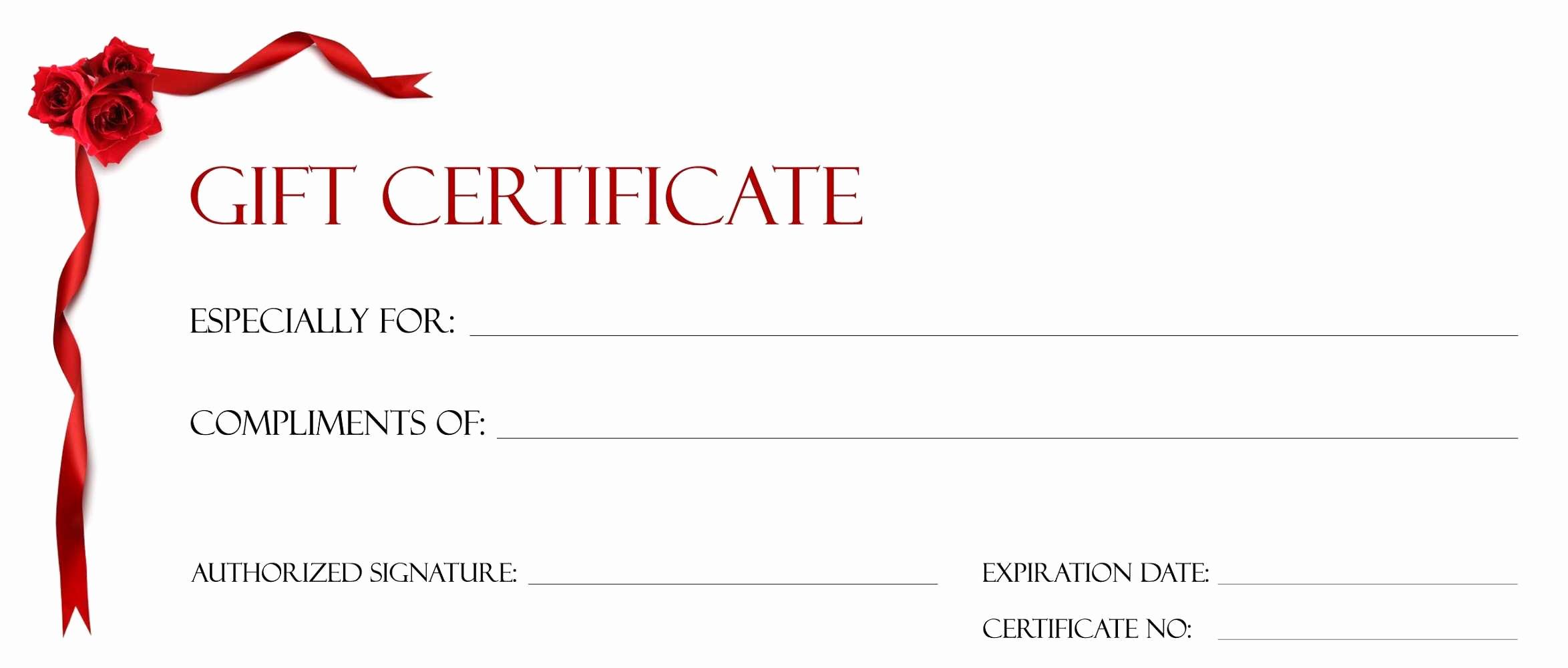 Makeup Gift Certificate Template Beautiful Gift Certificate Blank