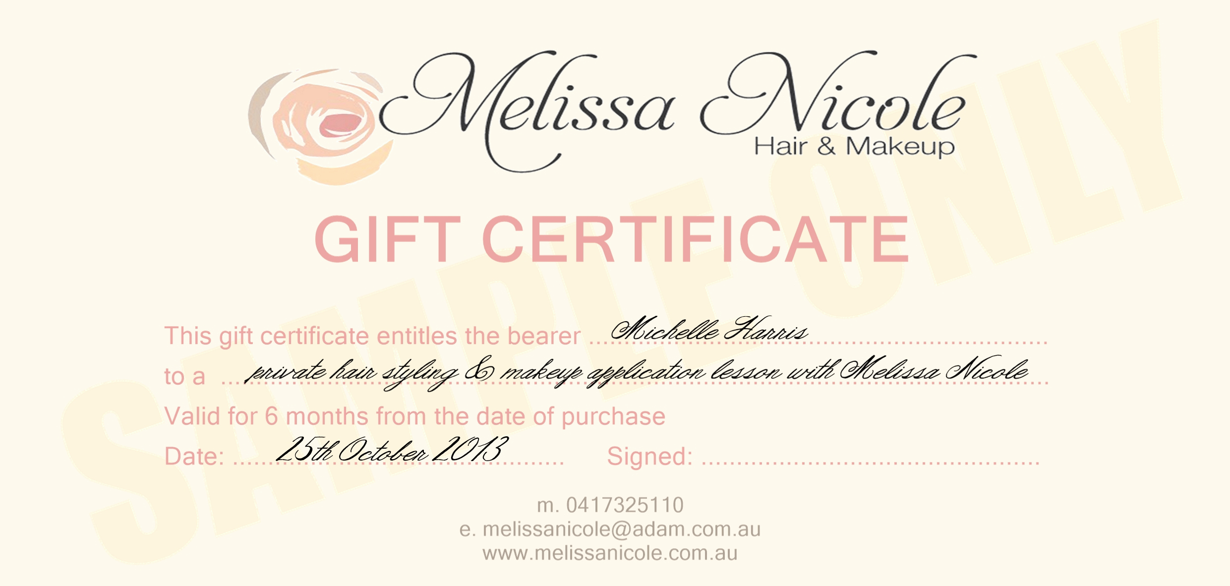 Makeup Gift Certificate Template Beautiful Makeup Artist Gift Card