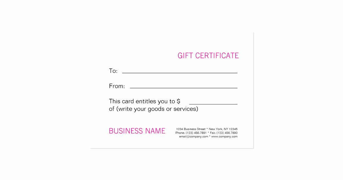 Makeup Gift Certificate Template Fresh Beauty Spa Salon Blank Gift Certificate Template