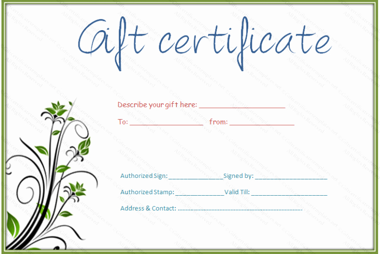 Makeup Gift Certificate Template Lovely Printable Simple Hair and Beauty Gift Certificate
