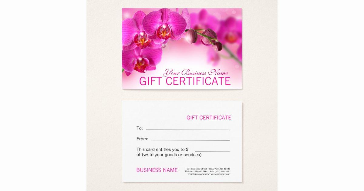 beauty spa salon blank t certificate template