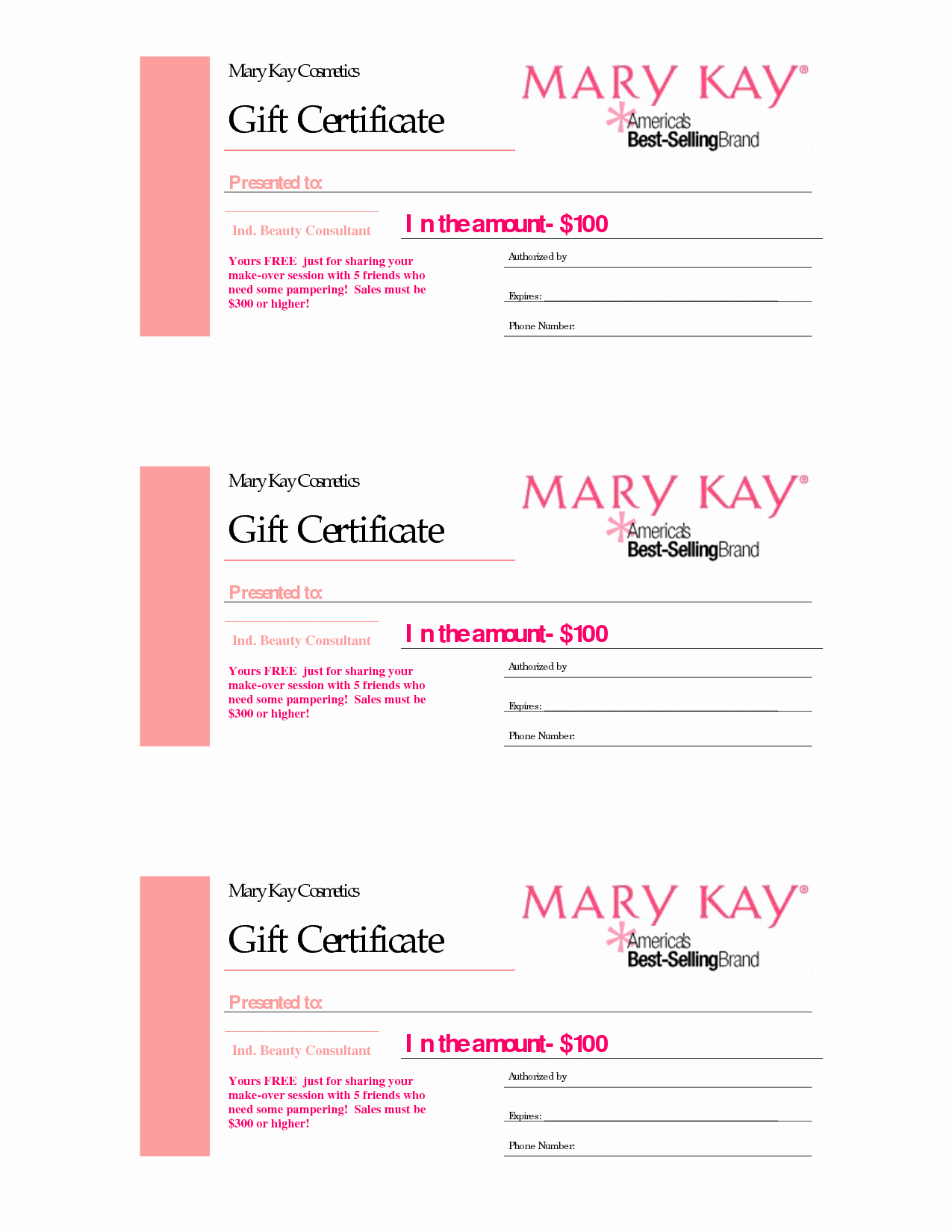 Makeup Gift Certificate Template Unique Gift Certificates
