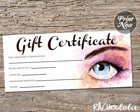 Makeup Gift Certificate Template Unique Printable Makeup Gift Certificate Template Makeup