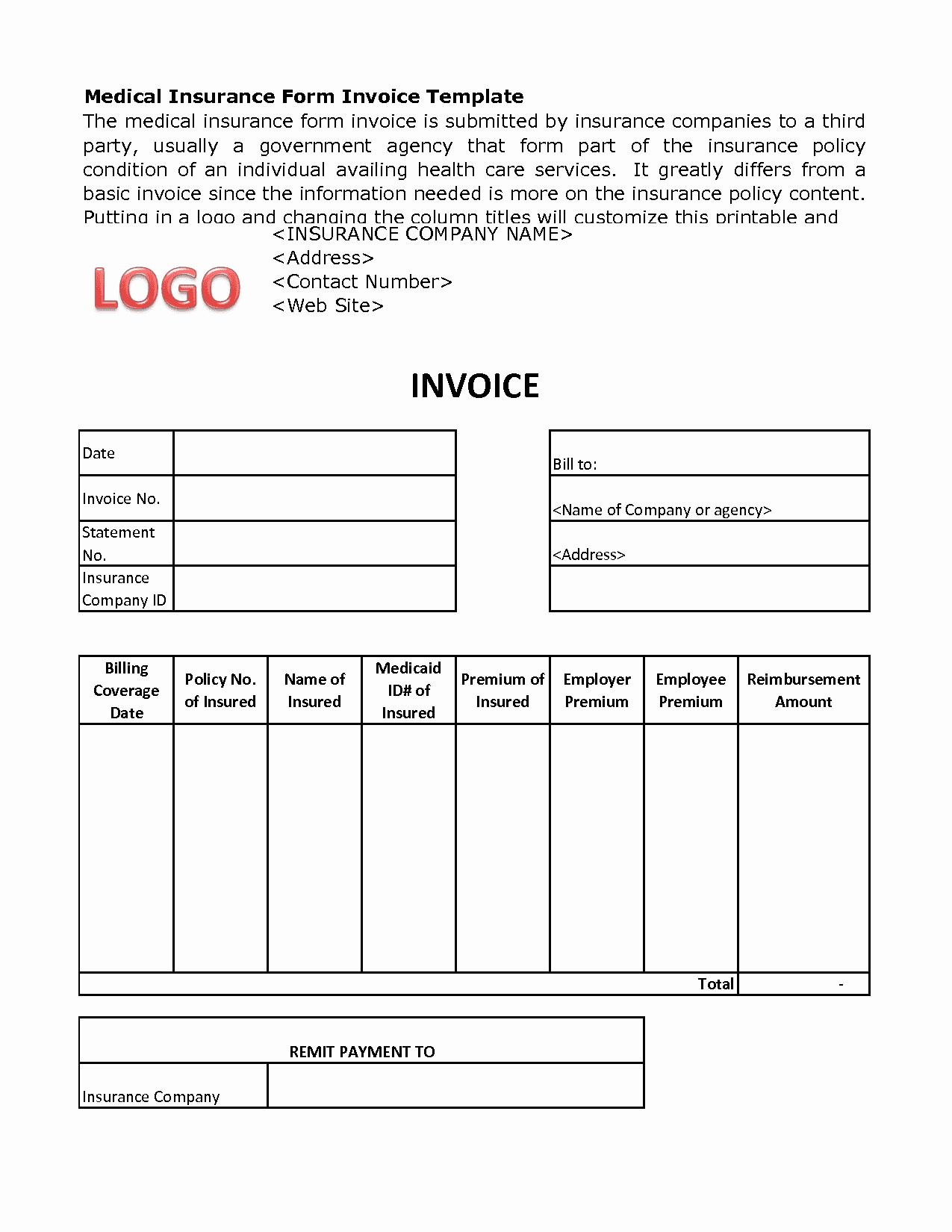 Medical Billing Invoice Template Beautiful Medical Billing Invoice Template Free Excelxo
