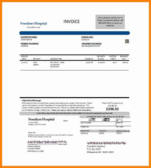 Medical Billing Invoice Template Elegant 8 Medical Billing Template forms