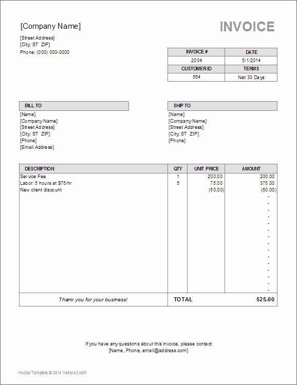 Medical Billing Invoice Template Elegant Vertex42 On Gumroad