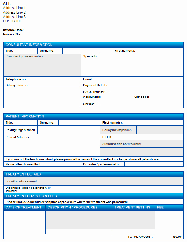 Medical Billing Invoice Template New Invoicing organisations Medical Billing Healthcode