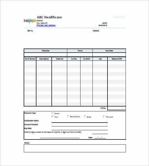 Medical Billing Invoice Template New Medical and Health Invoice Template 15 Free Word Excel