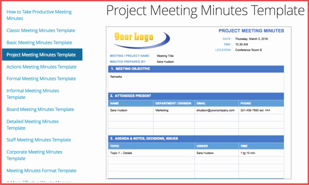 Meeting Notes Template Word Elegant How Minutes Meeting Can Help You Improve Free