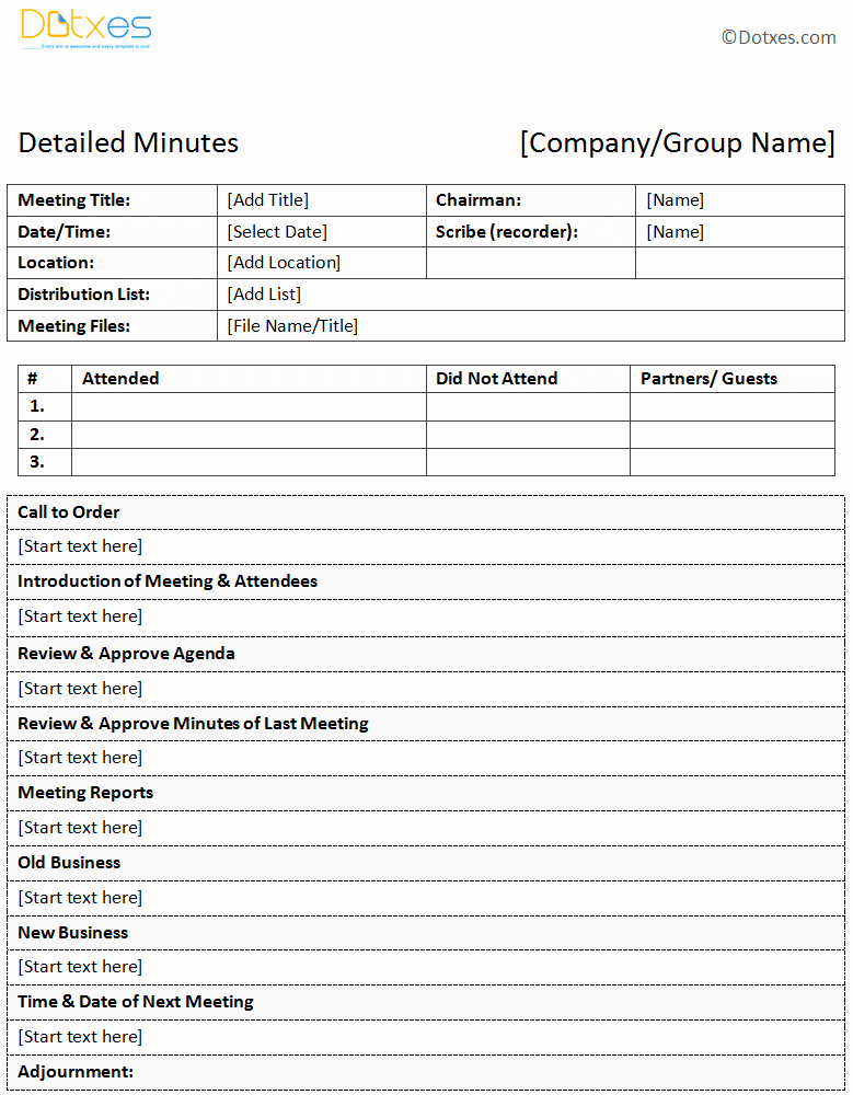 Meeting Notes Template Word Fresh Meeting Minutes Template