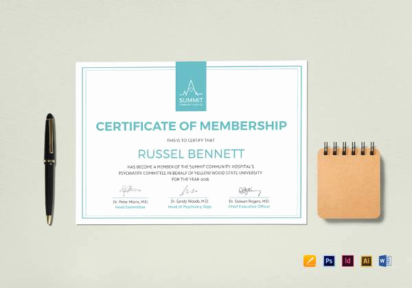 Membership Certificate Llc Template Awesome Free 14 Membership Certificate Templates In Samples