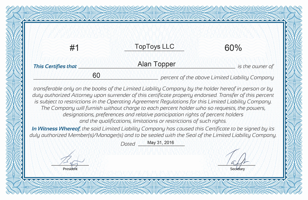 Membership Certificate Llc Template Beautiful Llc Membership Certificate Template Free