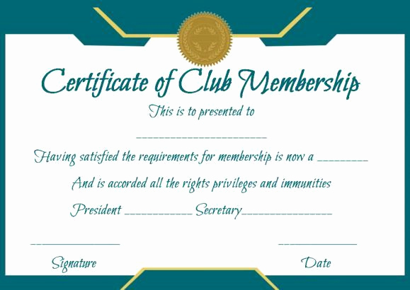Membership Certificate Llc Template Best Of Free Club Membership Certificate Template