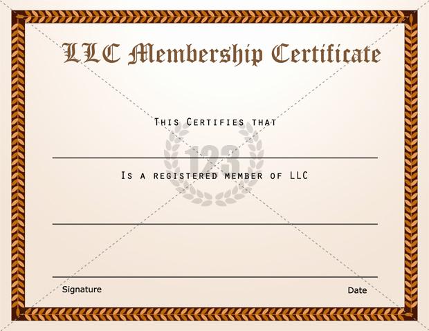 Membership Certificate Llc Template Elegant Llc Membership Certificate Template