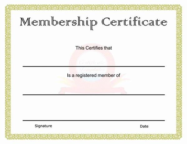 Membership Certificate Llc Template Inspirational 99 Free Printable Certificate Template Examples In Pdf