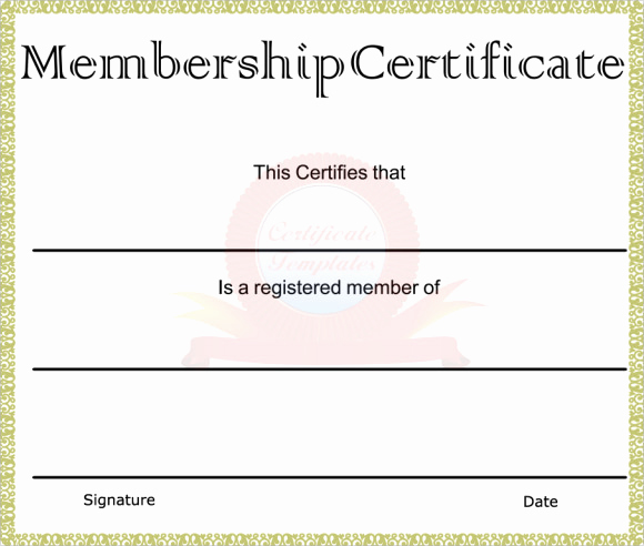 Membership Certificate Llc Template Inspirational Free 14 Membership Certificate Templates In Samples