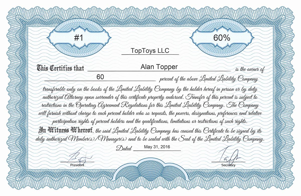 Membership Certificate Llc Template Inspirational Llc Membership Certificate Template Free