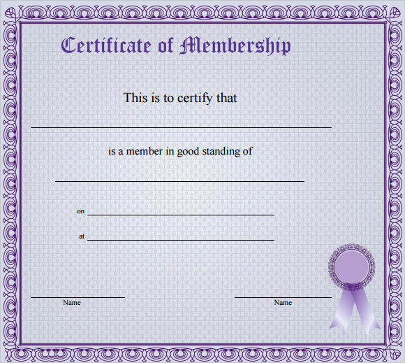 Membership Certificate Llc Template Luxury Free 14 Membership Certificate Templates In Samples