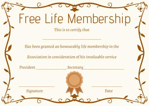 Membership Certificate Llc Template Luxury Free Life Membership Certificate Template