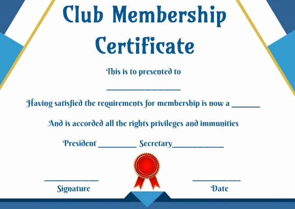 Membership Certificate Llc Template New Free Club Membership Certificate Templates