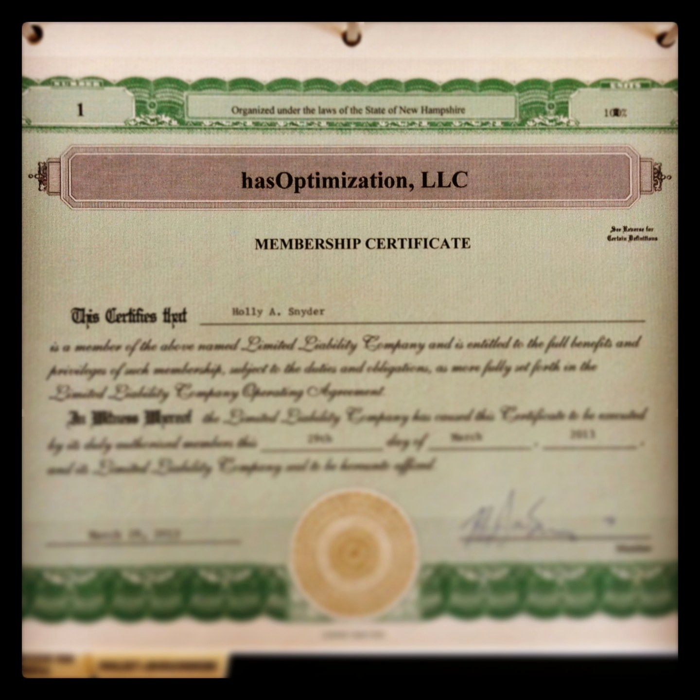 Membership Certificate Llc Template Unique Announcing Hasoptimization Llc A Digital Marketing Pany