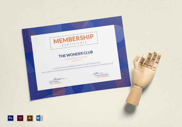 Membership Certificate Llc Template Unique Free 14 Membership Certificate Templates In Samples