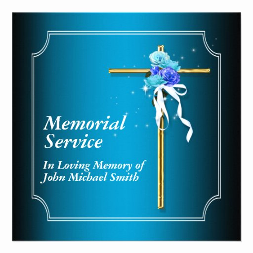 Memorial Service Announcement Template Free Beautiful Memorial Service Invitation Announcement Memory 5 25