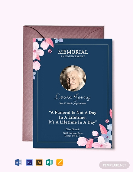 Memorial Service Announcement Template Free Elegant Free Memorial Service Announcement Invitation Template