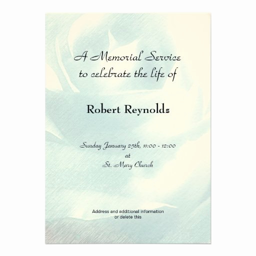 Memorial Service Announcement Template Free Elegant Personalized In Memoriam Invitations