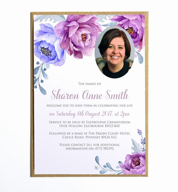 Memorial Service Announcement Template Free Inspirational Funeral Memorial Announcement Funeral Invitation Modern