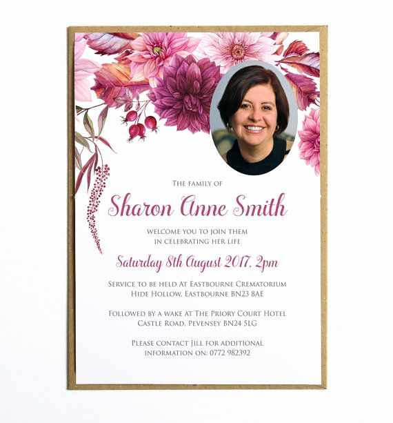 Memorial Service Announcement Template Free Luxury Funeral Memorial Announcement Funeral Invitation Modern