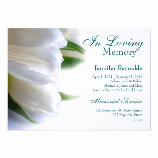 Memorial Service Announcement Template Free Unique Loving Memory Cards Invitations Cards & More