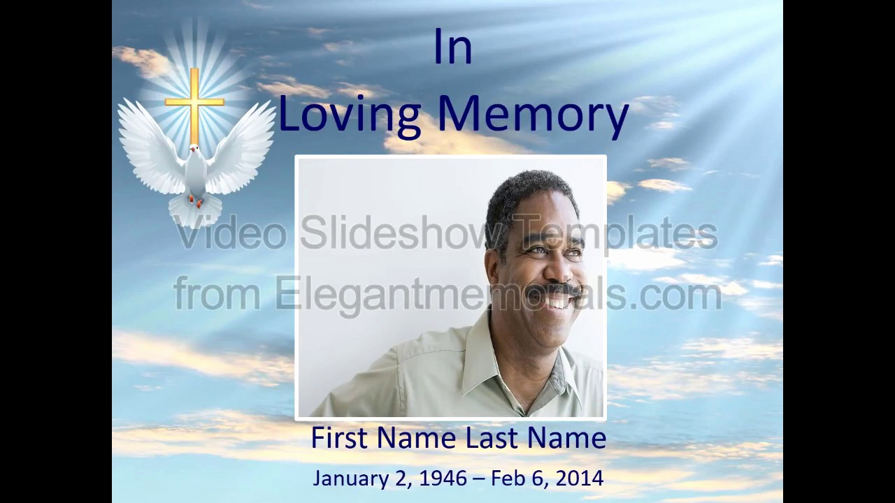 Memorial Slideshow Template Powerpoint Unique Memorial Slideshow Template Sample