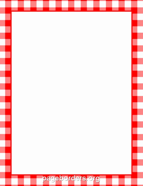 Menu Board Template Powerpoint Awesome Printable Menu Border with A Red and White Gingham Pattern