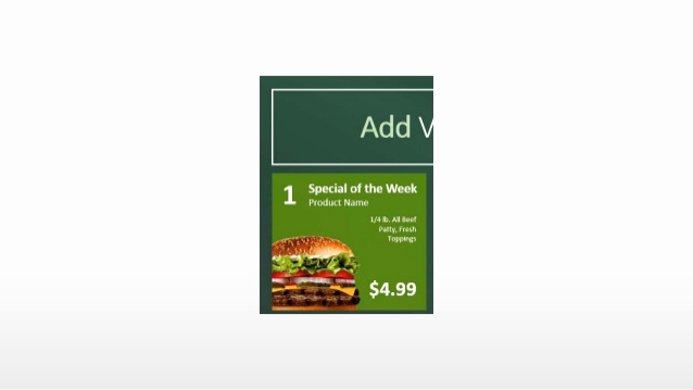 create a digital menu board using powerpoint
