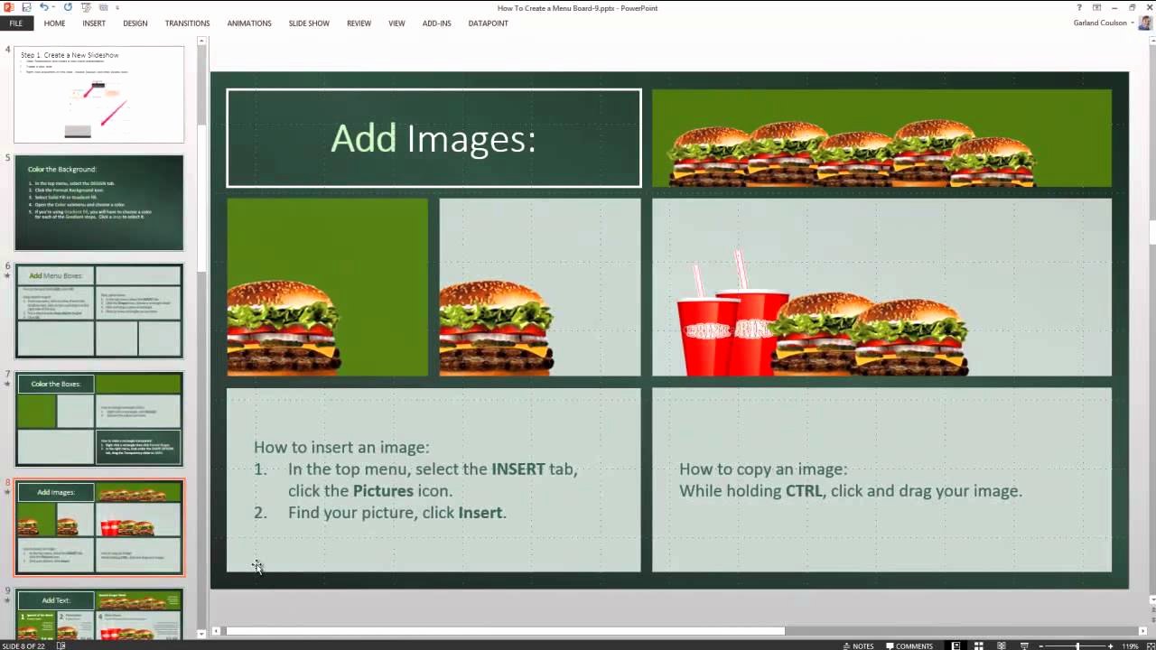 Menu Board Template Powerpoint Beautiful Examples Menu Boards with Powerpoint to Inspire You