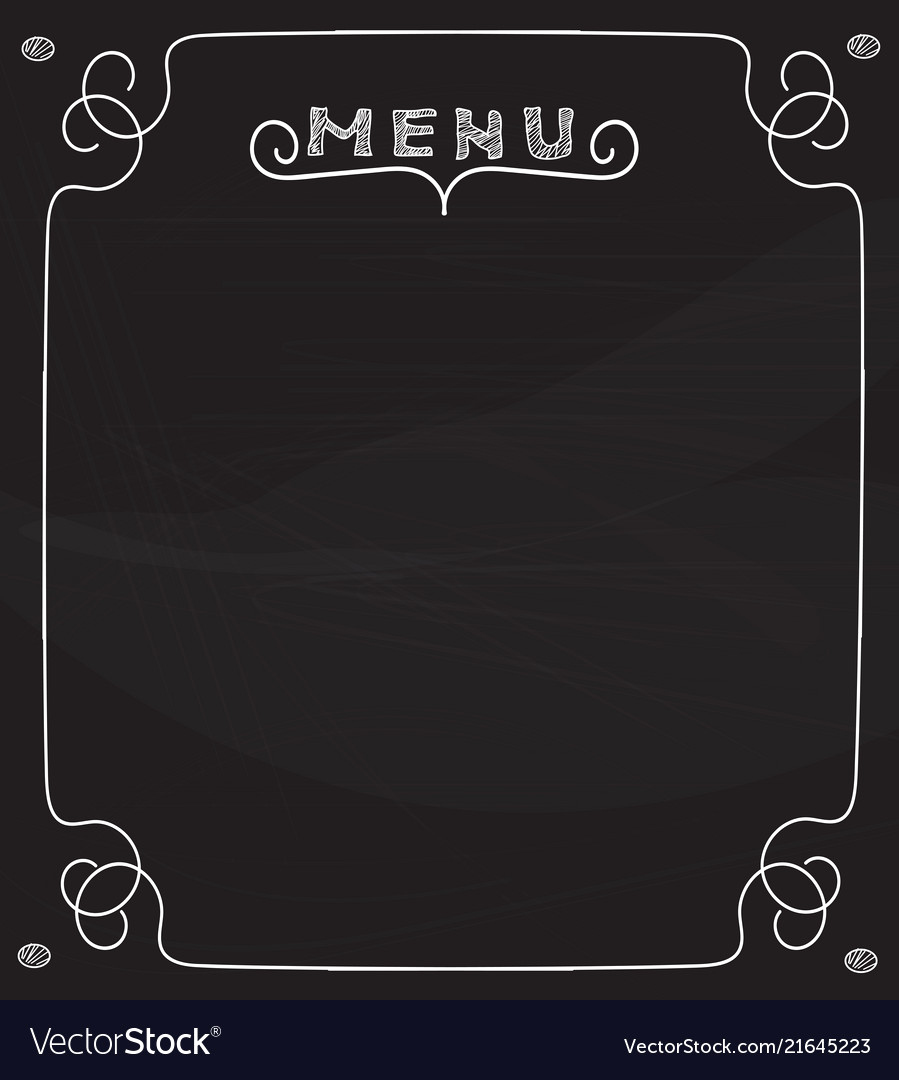 Menu Board Template Powerpoint Best Of Blank Chalkboard Menu