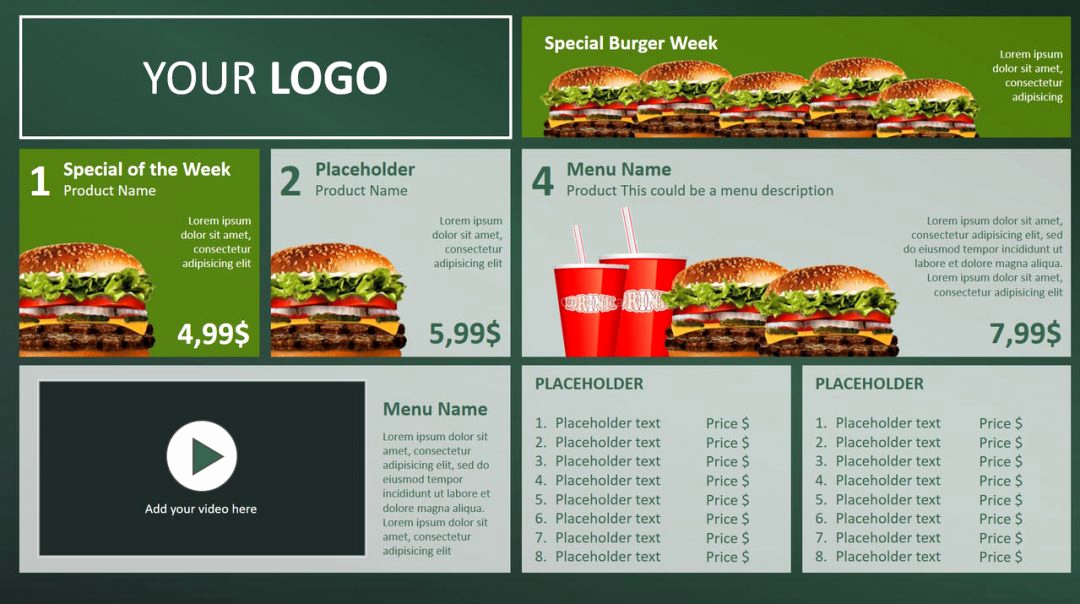 Menu Board Template Powerpoint Best Of Digital Menu Board Powerpoint Design • Presentationpoint