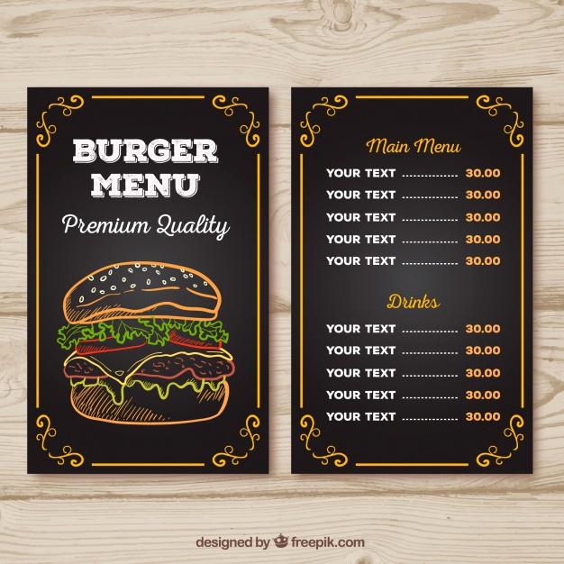 Menu Board Template Powerpoint Inspirational Burger Menu Vectors S and Psd Files