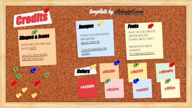Menu Board Template Powerpoint Luxury Bulletin Board Presentation Template