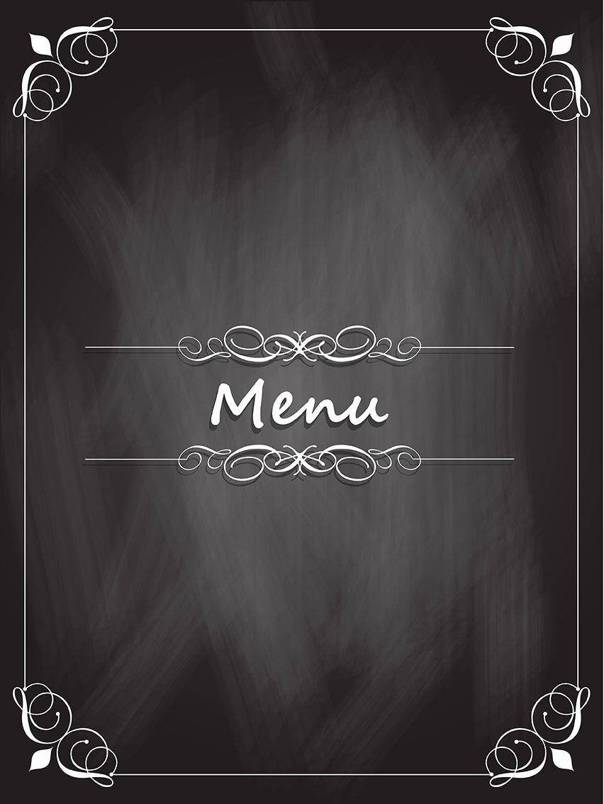 Menu Board Template Powerpoint Luxury Chalkboard Menu Design Download Free Vectors Clipart
