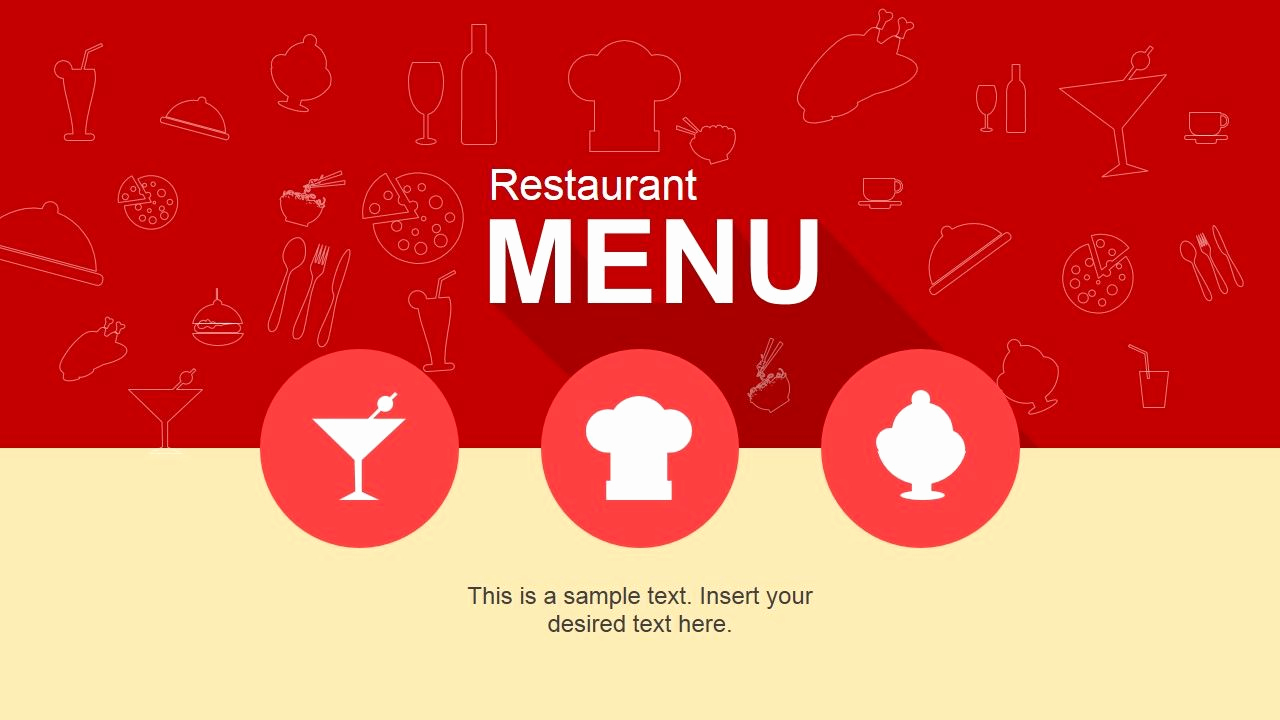 Menu Board Template Powerpoint Luxury Cool Restaurant Menu Powerpoint Template