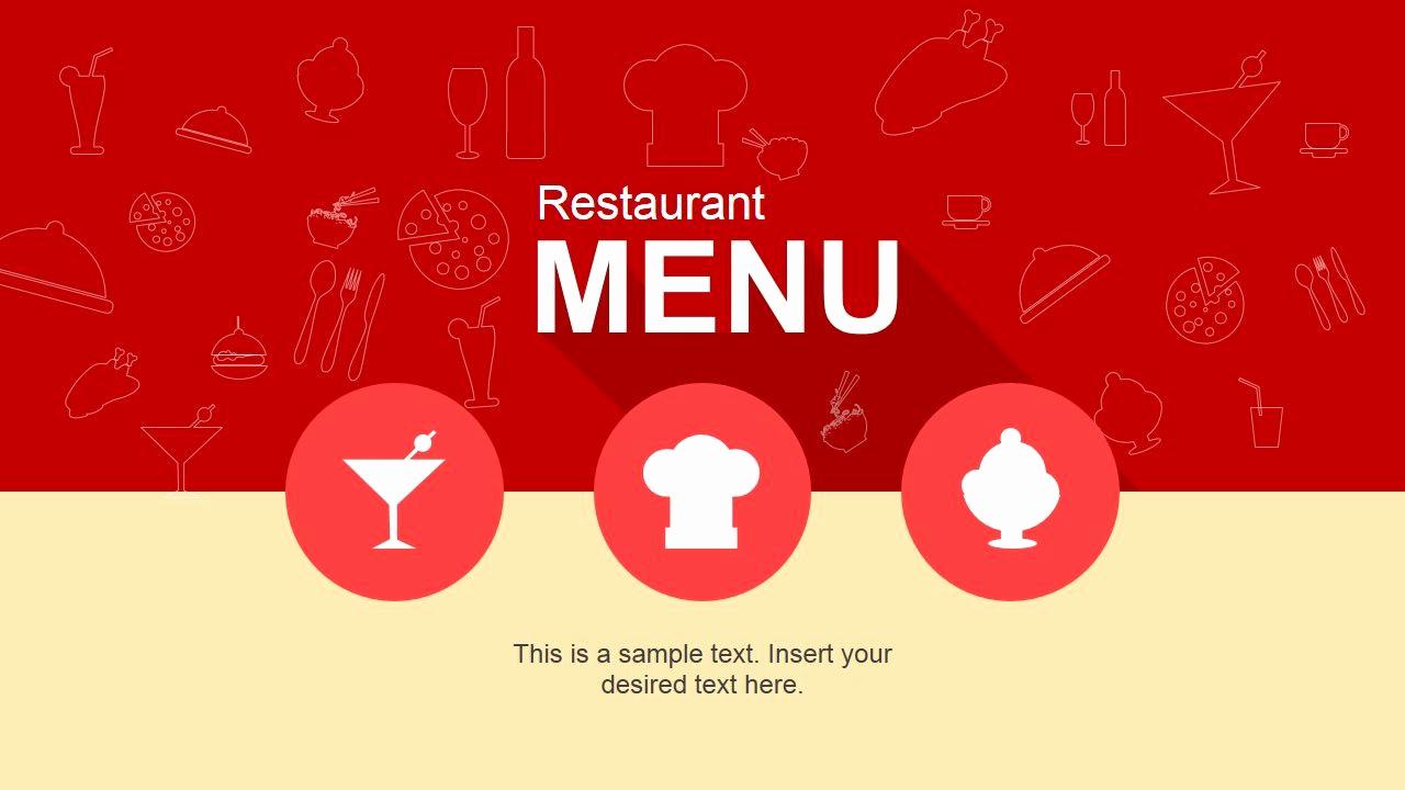 Menu Board Template Powerpoint Luxury Cool Restaurant Menu Powerpoint Template